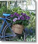 Blue Bike Metal Print by Cheri Randolph