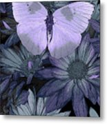 Blue Butterfly Metal Print by JQ Licensing