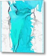 Blue Dancer Metal Print by Mary Morawska