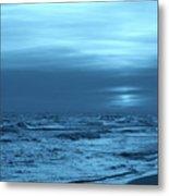 Blue Evening Metal Print by Sandy Keeton