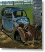 Blue Ford Metal Print by Doug Strickland