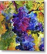Blue Grapes Metal Print by Ginette Callaway