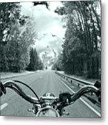 Blue Harley Metal Print by Micah May