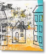 Blue House Metal Print by Linda Woods