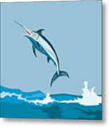 Blue Marlin  Metal Print by Aloysius Patrimonio