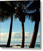 Blue Palms Metal Print by Karen Wiles