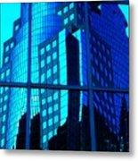 Blue Reflections ... Metal Print by Juergen Weiss