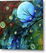 Blue Sapphire 1 By Madart Metal Print by Megan Duncanson