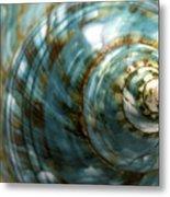 Blue Seashell Metal Print by Fabrizio Troiani