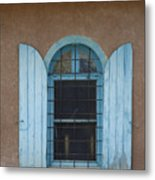 Blue Shutters Metal Print by Jerry McElroy