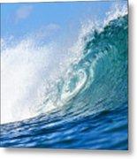 Blue Tube Wave Metal Print by Paul Topp
