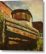 Boat At Apalachicola Metal Print by Toni Hopper