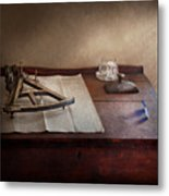 Boat - The Joy Of Sextant Metal Print by Mike Savad