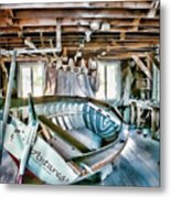 Boathouse Metal Print by Heather Applegate
