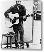 Bob Dylan B. 1941 Playing Guitar Metal Print by Everett