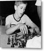 Bobby Fischer, Circa 1957 Metal Print by Everett