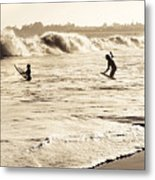Body Surfing Family Metal Print by Marilyn Hunt