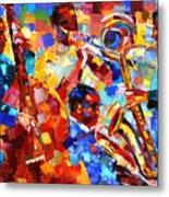 Bold Jazz Quartet Metal Print by Debra Hurd