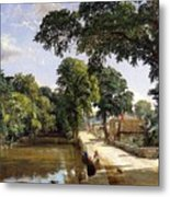 Bonchurch Isle Of Wight Metal Print by Jasper Francis Cropsey