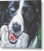 Border Collie Metal Print by Lee Ann Shepard