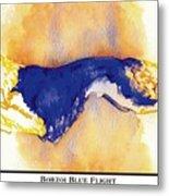 Borzoi Blue Flight Metal Print by Kathleen Sepulveda
