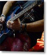Boss Guitar Player Metal Print by Bob Christopher