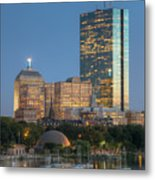 Boston Night Skyline Iv Metal Print by Clarence Holmes