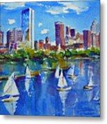 Boston Skyline Metal Print by Diane Bell