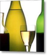 Bottles Of Variety Vine Metal Print by Bernard Jaubert