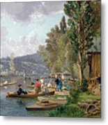 Bougival Metal Print by Emile-Edme Laborne