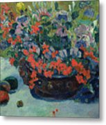 Bouquet Of Flowers Metal Print by Paul Gauguin