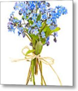 Bouquet Of Forget-me-nots Metal Print by Elena Elisseeva
