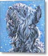 Bouvier Des Flandres Snow Metal Print by Lee Ann Shepard