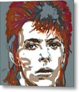 Bowie As Ziggy Metal Print by Suzanne Gee