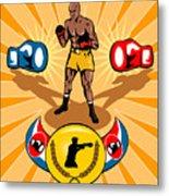 Boxer Boxing Poster Metal Print by Aloysius Patrimonio