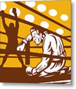 Boxer Down On His Hunches Metal Print by Aloysius Patrimonio