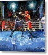Boxing Night Metal Print by Murphy Elliott