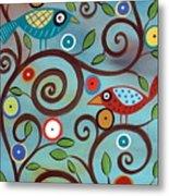 Branch Birds Metal Print by Karla Gerard