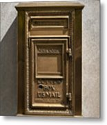 Brass Mail Box Nyc Metal Print by Robert Ullmann