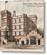 Brigade Depot Oxford England 1880 Metal Print by Ingrefs Bell