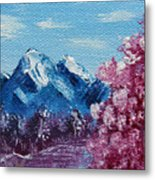 Bright Blue Mountains Metal Print by Jera Sky