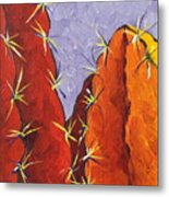 Bright Cactus Metal Print by Sandy Tracey