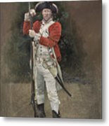 British Infantryman C.1777 Metal Print by Chris Collingwood