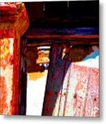 Broken Door By Michael Fitzpatrick Metal Print by Mexicolors Art Photography