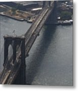 Brooklyn Bridge From The Beekman Metal Print by Christopher Kirby