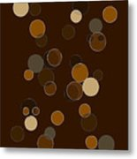 Brown Abstract Metal Print by Frank Tschakert