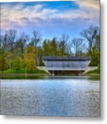 Brownsville Covered Bridge Metal Print by Jack R Perry