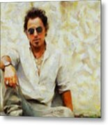 Bruce Springsteen Metal Print by Elizabeth Coats