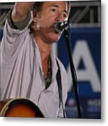 Bruce Springsteen In Cleveland Metal Print by Brian M Lumley