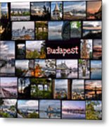 Budapest In October Metal Print by Janos Kovac